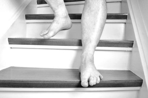 feet barefoot stairs