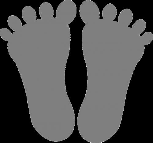 feet toes footmarks