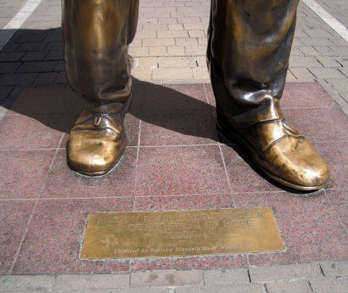 Feet Of Nelson Mandela Statue