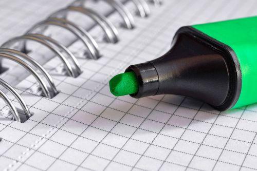 felt tip pen paper document