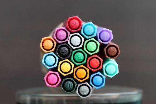 felt tip pens colorful color