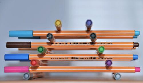 felt tip pens colorful stack
