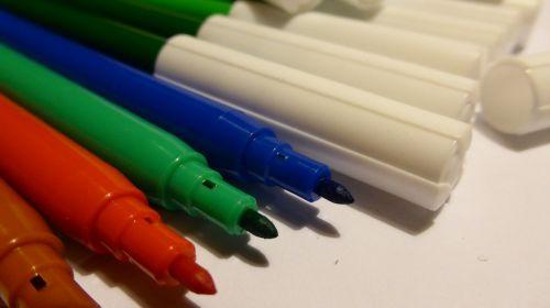 felt tip pens color colorful