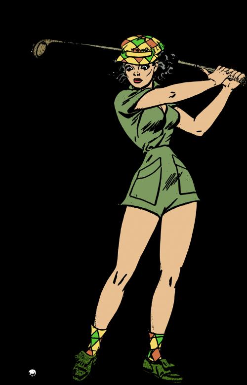 female golf golfer
