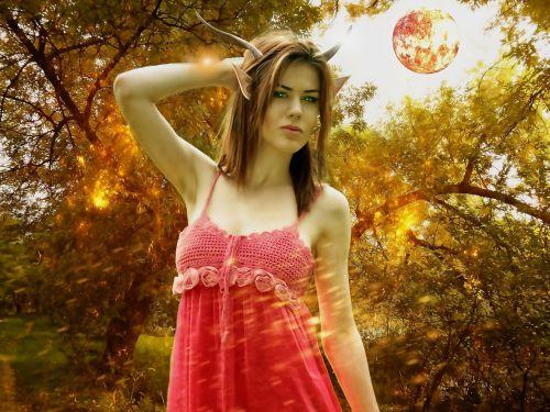 female faun fantasy girl