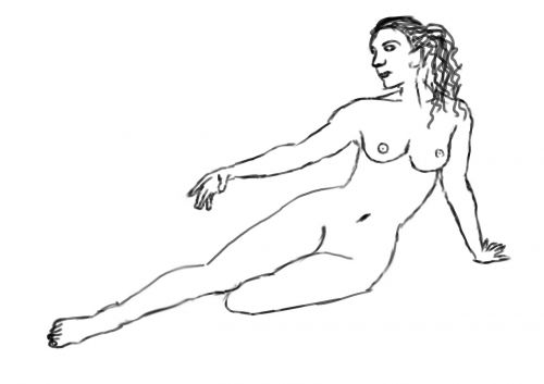 female pose drawing