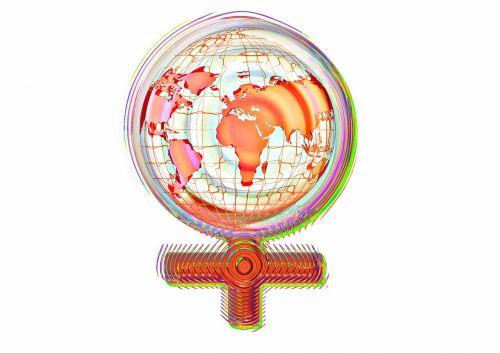 female globe earth