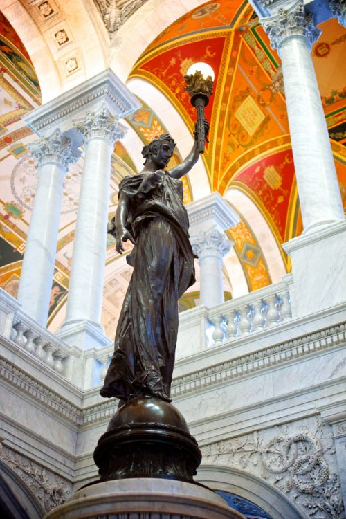 Female Statue Library Of Congress