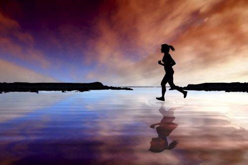 Female Water Runner