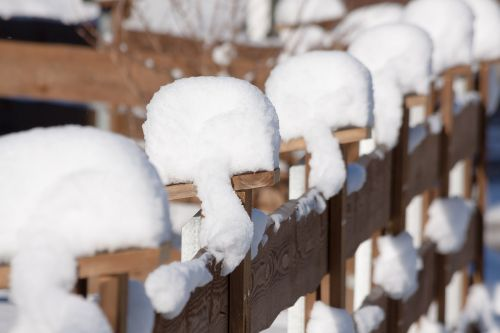 fence snow winter