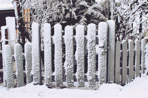 fence garden fence snow