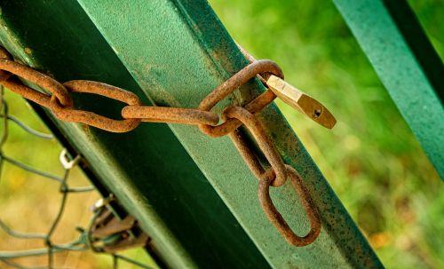 fence chain padlock