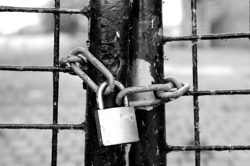 fence castle chain lock