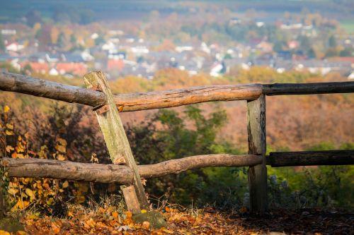 fence pile autumn