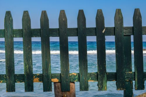 fence green wooden
