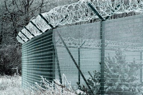 fence fencing barbed wire