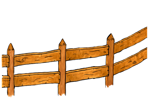 fence wood watercolor