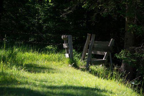 fence passage wood fence