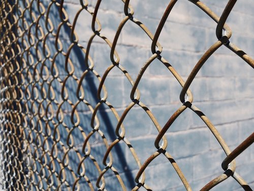 fence  chain link  metal