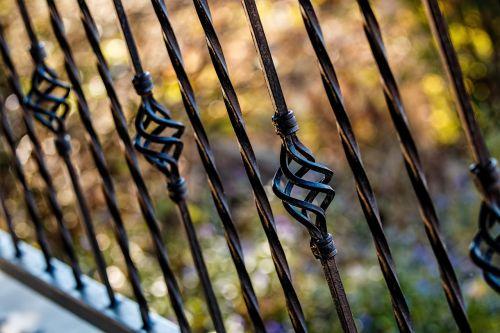 fence railing wrought iron
