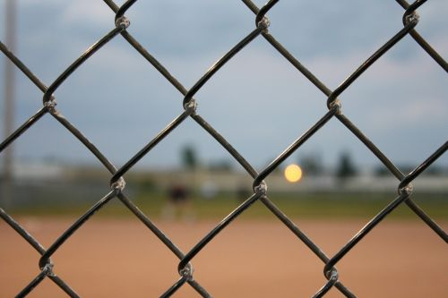 fence baseball chain