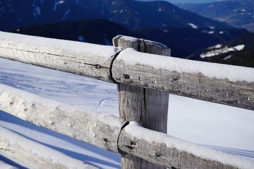 fence snow snowy