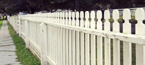 fence white wood