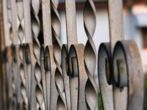 fence curved steel door
