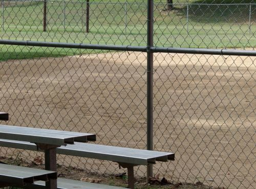 fence baseball baseball field