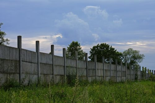 fencing concrete ugly