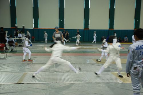 fencing fencer fencing training