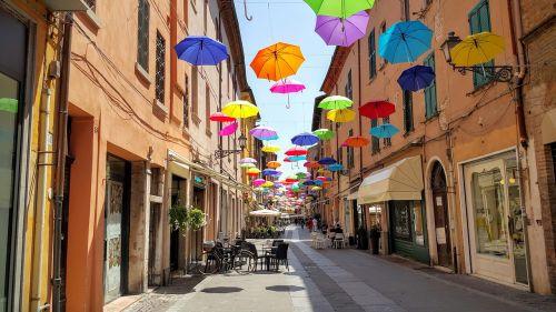 ferrara umbrella decoration