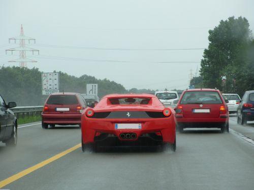 ferrari car motorway