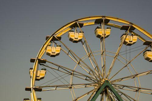 ferris wheel sunset golden