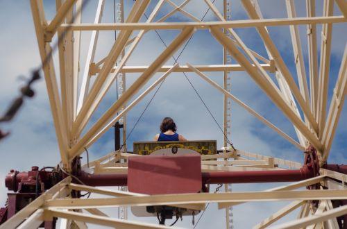 ferris wheel fair woman