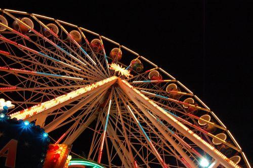 ferris wheel light night