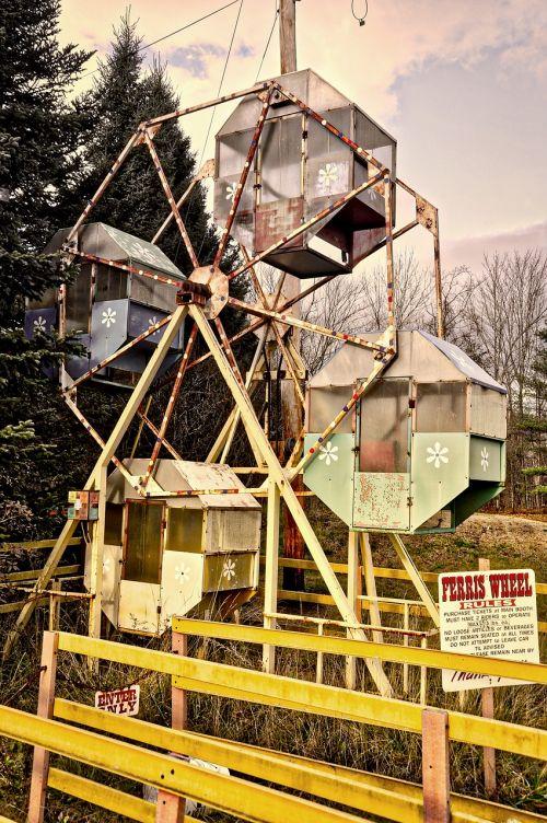 ferris wheel abandoned amusement
