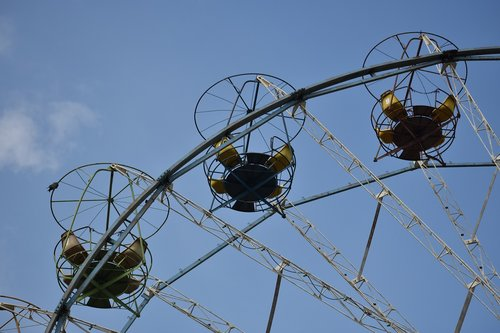 ferris wheel  old  the decline of