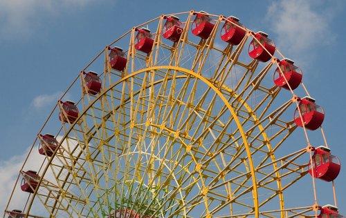 ferris wheel  the nacelles  manege
