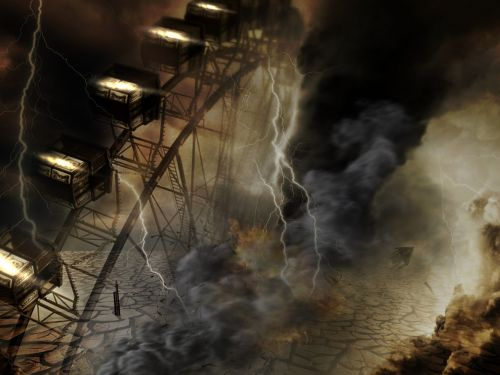 ferris wheel apocalypse sky