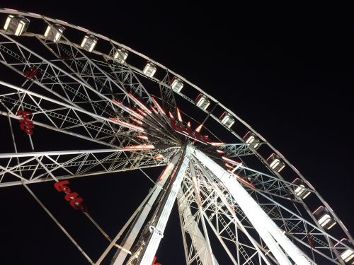 ferris wheel funfair christmas