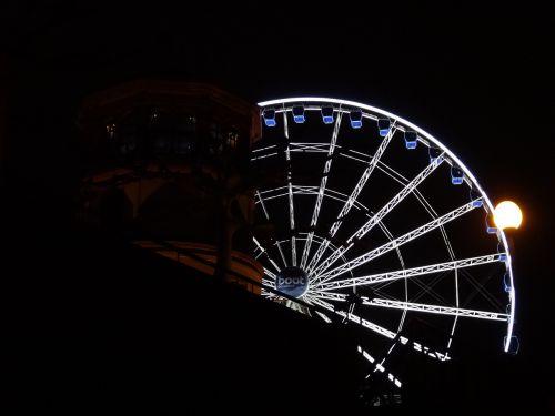 ferris wheel düsseldorf night