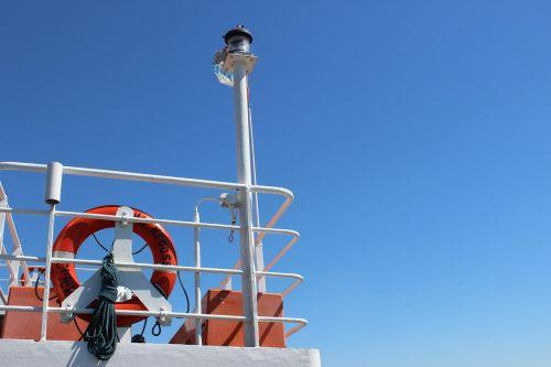 ferry ship sky