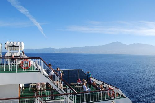 ferry landscape tenerife