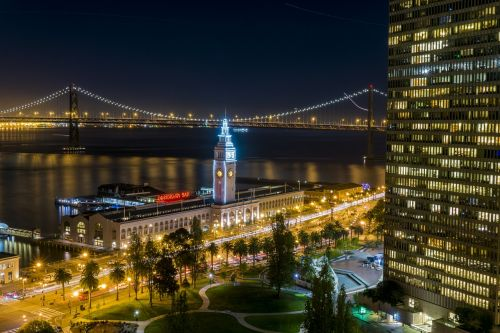 ferry building san francisco night photography