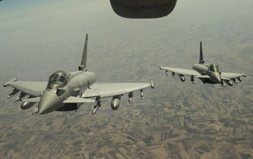 fgr4 typhoon royal air force aerial