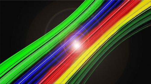 fiber optic cable rainbow colors background