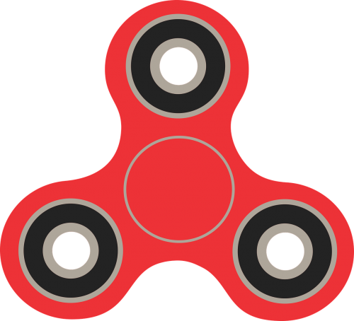 fidget spinner spinner vector image