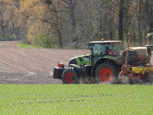 field tractor agriculture