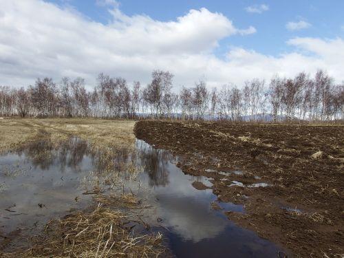 fields spring plowing